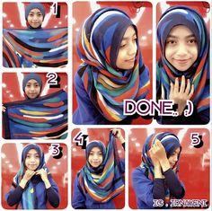 hijab tutorial I think it uses a square scarf