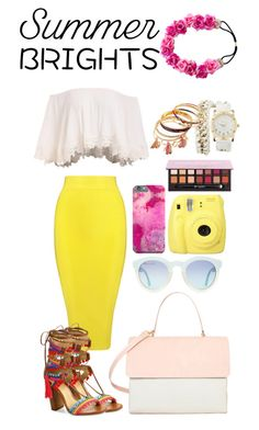 """""""Cheer your day"""" by serban-alessandra on Polyvore featuring Posh Girl, Fuji, Eddie, Charlotte Russe, Anastasia Beverly Hills, Schutz and summerbrights"""