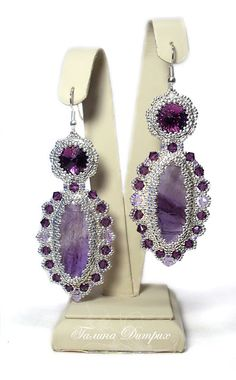 """Earrings """"Violet Fairy Tale"""" 
