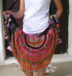 http://www.artfire.com/ext/shop/studio/bohemiantouch  Bohemian Hippie look Handmade Women Cross Body Bag Vintage Fabric