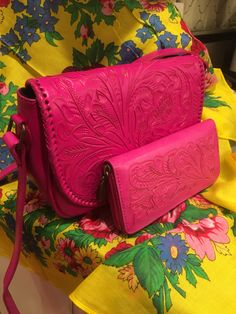 Tooled Leather Purse, Leather Tooling, Leather Purses, Leather Handbags