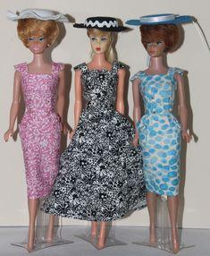 Sheath Sensations for Barbie Malibu Barbie, Barbie Friends, Vintage Barbie, Fashion Dolls, Vintage Fashion, Sew, Summer Dresses, How To Make, Crafts