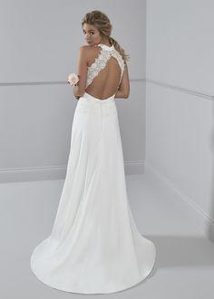 8b445325 Rosalyn #romantica #weddingdress #bridal #bridestyle #2018collection  #highneck #keyhole #keyholeback #ontrend #lace #fashion #style
