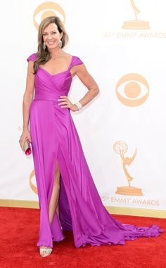 Allison Janney from 2013 Emmys: in Lorena Sarbu  Catch her in Mom: Monday's at 8:30pm on KEYE TV.