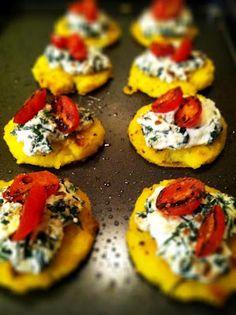 Spinach Ricotta Polenta Cakes - Gluten Free