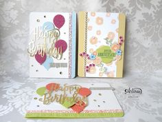 Artisan Blog Hop : Joyeux Anniversaire Beautée ! - Ensemble de cartes de voeux fraîches et pimpantes !