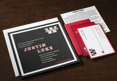 """Varsity"" Bar Mitzvah invitation from Arabella Papers. Customize yours with Paper Passionista."