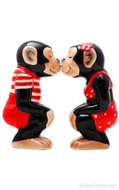 Cute Chimps Salt and Pepper Shakers!