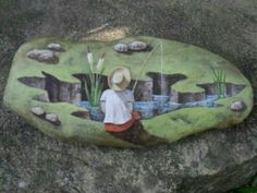 look at the dimension in this painted rock!