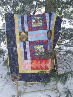 My husband's quilt   A Little bit of Everything--