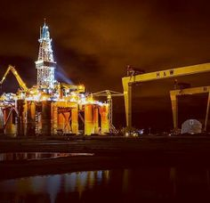 Oil rig at Belfast