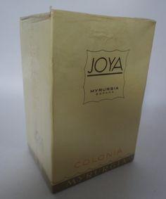 Vintage: Joya Myrurgia Cologne Spain 3 1/4 oz still door MJparfums