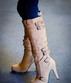 Buckle Knee High Boot 2015
