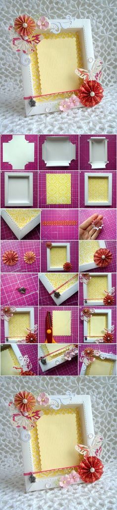 DIY Cute Cardboard Picture Frame | iCreativeIdeas.com Follow Us on Facebook --> https://www.facebook.com/icreativeideas