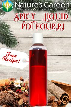 Free Spicy Liquid Potpourri Recipe by Natures Garden.