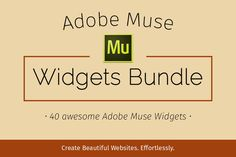 Adobe Muse Widgets Bundle by MuseTemplatesPro on Creative Market