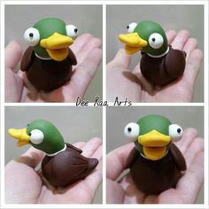 Dee Raa Arts polymer clay fimo sculpey duck mallard quack drake pond