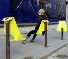 mobilier urbain, assises originales