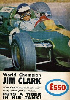 Vintage Esso ad feat. Jim Clark