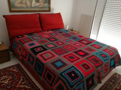 Crochet Bedspread Pattern, Bed Spreads, Comforters, Quilts, Blanket, Home, Bedroom Ideas, Stuff Stuff, Creature Comforts