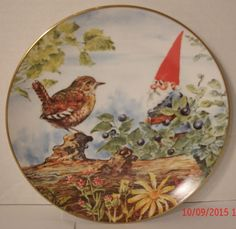 Berry Pickers Gnomes Four Seasons Summer by Rien Poortvliet Decorative Plate