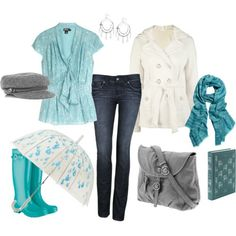For rainy days and turquoise humor. <3