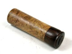 LV-3634 Redbud Burl & Ebony Slim Box, Toothpick Holder, Needle Case-SCREW CAP