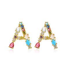 #earrings#crystalaccessories#initialpendantearings