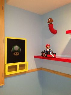 mario themed bedroom super bros bedroom decor best bedroom images on super room super brothers themed.Here is an example images for Super Mario Brothers Bedroom Themes, Bedroom Decor, Bedroom Ideas, Bedroom Images, Chambre Luca, Super Mario Room, Boy Room, Kids Room, Mario Crafts