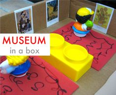"""Great kids acitivity. Before or after you visit a museum make a """"Museum in a Box"""" at home!"""