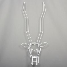 My design inspiration: Gazelle Trophy Head White on Fab. I think it's time to bust out my mad soldering skills.