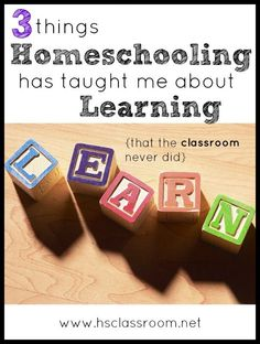 3 Things Homeschooli