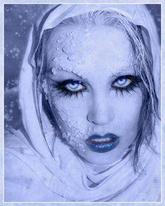 snow queen | 10 + Frozen, Ice & Snow Queen White Winter Make Up Ideas 2012 For ...
