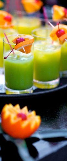 Green Flash Cocktail Shots