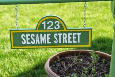 I did it!  I made a Sesame Street Sign!