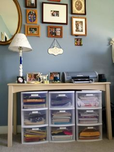 #Organize your #office by using #storage bins in logical ways