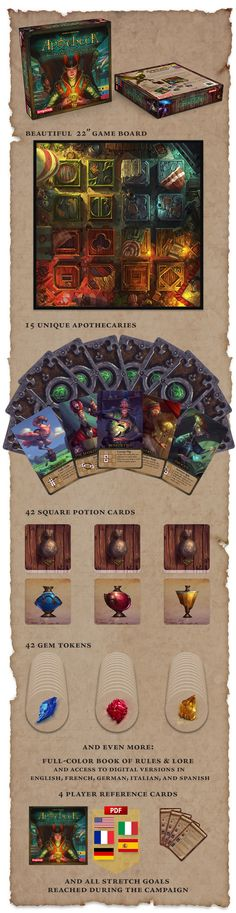 Another Kickstarter goodie.  Apotheca: The Secret Potion Society by Andrew Federspiel — Kickstarter