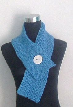 Chunky Short Neck Warmer Scarf in Sky Blue by thesequinnedsheep, £25.00