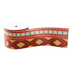 sold #Tribal pattern grosgrain #ribbon #aztec #ethnic Available in different products. Check more at www.zazzle.com/celebrationideas
