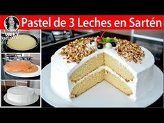 PASTEL DE 3 LECHES EN SARTEN EN ESTUFA SIN HORNO   #VickyRecetaFacil - YouTube Spanish Desserts, Vanilla Cake, Cheesecake, Cooking Recipes, Baking, Youtube, Frosting, Cake, Ideas
