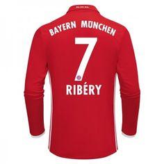 Bayern München 16-17 Franck #Ribery 7 Hemmatröja Långärmad,304,73KR,shirtshopservice@gmail.com