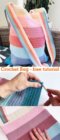 crochet handbags Summer Bag / Handbag - crochet tutorial Learn how to make crochet this summer bag. Crochet Simple, Cute Crochet, Crochet Crafts, Crochet Projects, Crochet Summer, Crochet Handbags, Crochet Purses, Crochet Tutorial, Knitting Patterns