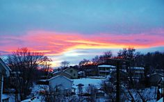 GAIL FINNEY, STAUNTON  Just as the sun was sitting I looked out my front door, and this is what I saw! #WHSVsnow
