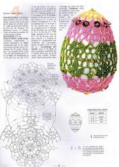 Find and save knitting and crochet schemas, simple recipes, and other ideas collected with love. Crochet Chart, Love Crochet, Knit Crochet, Crochet Patterns, Crochet Decoration, Crochet Home Decor, Egg Tree, Dmc, Easter Crochet