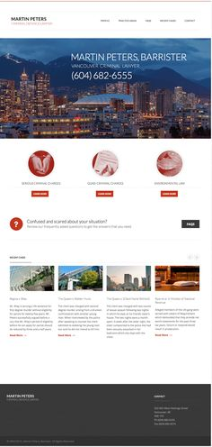 We redesigned J. Martin Peters', Criminal Lawyer, website with #WordPress customizations and basic SEO. What a beautiful design. Check it out for yourself! Also check out our other work at www.emspace.ca/work #responsivedesign #webdesign Vancouver, Lawyer Website, Martin Peters, Questions, Check It Out, Seo, Wordpress, Web Design, Beautiful