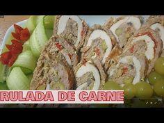 Rulada de carne ca Fel principal poate fi servita rece si calda. - YouTube Food Videos, Carne, Youtube, Recipes, Princesses, Sweets, Ground Meat, Rezepte, Food Recipes