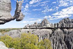 limestone formations at Tsingy de Bemaraha, a natural reserve on the western coast of Madagascar
