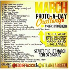 March photo a day challenge