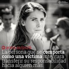La persona que se comporta como una víctima intentará transferir su responsabilidad hacia alguien más. http://arata.se/ps26  __________________________________________________________________________ #ArataAcademy #ArataAcademySPANISH #Autodesarrollo #edtech #elearning #instadaily #Maestría #PhotoOfTheDay #PicOfTheDay #Productividad #SeiitiArata #Responsabilidad #Victima #Sociedad