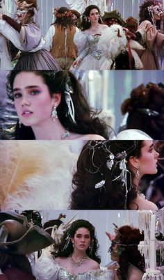 """""""As The World Falls Down"""" dream sequence [screen grabs] from Labyrinth (1986)"""